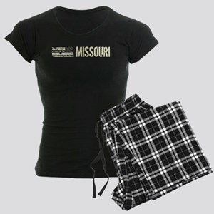 Black Flag: Missouri Women's Dark Pajamas