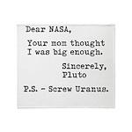 NASA Mom 2 Throw Blanket