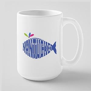 Cute Nantucket Whale Large Mug