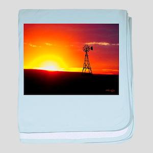 Windmill Sunset baby blanket