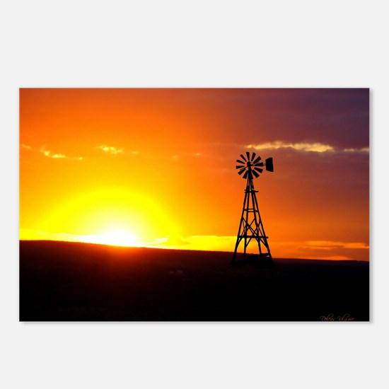 Windmill Sunset Postcards (Package of 8)