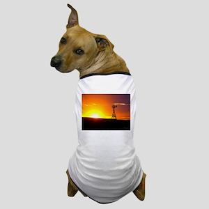 Windmill Sunset Dog T-Shirt
