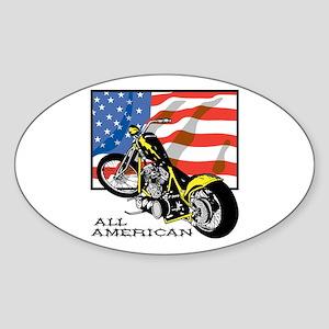 All American Chopper Oval Sticker