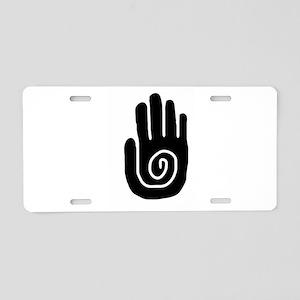 Swirl Hand Aluminum License Plate
