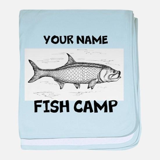 Custom Fish Camp baby blanket