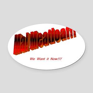 meatloaf Oval Car Magnet