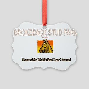 brokeback farm Picture Ornament