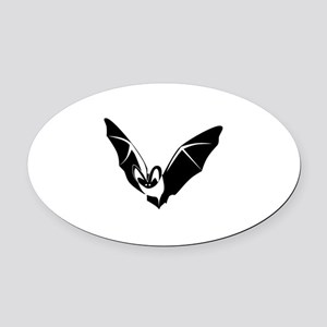 Bat Oval Car Magnet