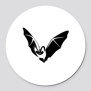 Bat Round Car Magnet