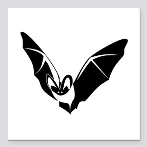 "Bat Square Car Magnet 3"" x 3"""