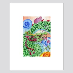 Green Asian Dragon Small Poster