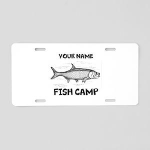 Custom Fish Camp Aluminum License Plate