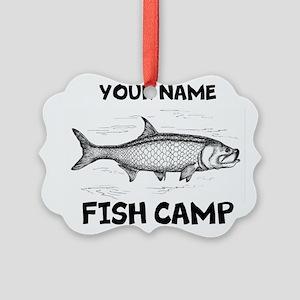 Custom Fish Camp Picture Ornament