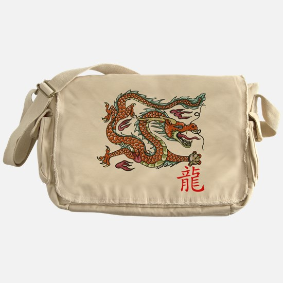 Chinese Dragon NEW red Messenger Bag