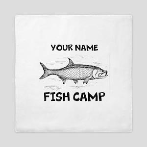 Custom Fish Camp Queen Duvet