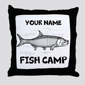 Custom Fish Camp Throw Pillow