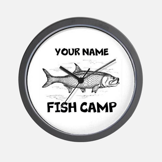 Custom Fish Camp Wall Clock