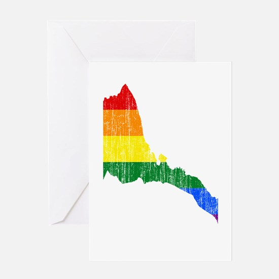 Eritrea Rainbow Pride Flag And Map Greeting Card