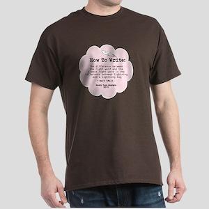 Mark Twain Write Word Men's Dark T-Shirt
