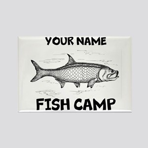 Custom Fish Camp Rectangle Magnet