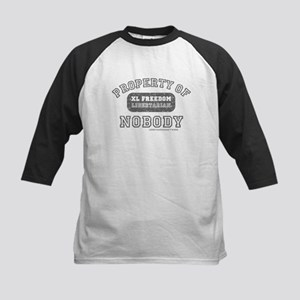 property of nobody libertarian shirt Kids Baseball