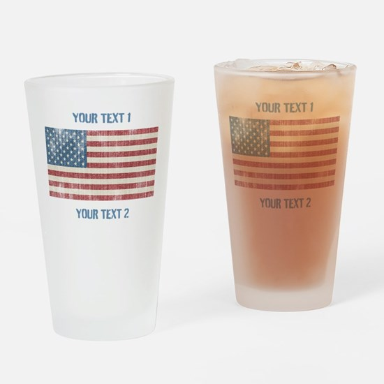 Vintage American Flag Drinking Glass