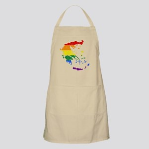 Greece Rainbow Pride Flag And Map Apron