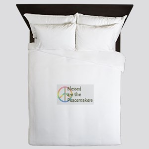 Blessed are the Peacemakers Queen Duvet
