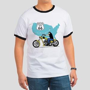 Route 66 Biker Ringer T