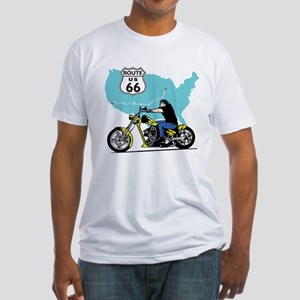 Route 66 Biker Fitted T-Shirt