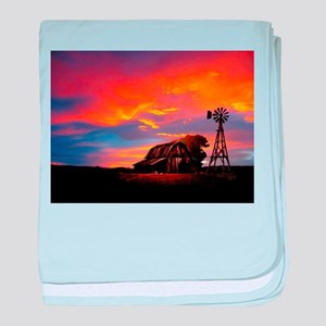 God is Watching Sunset baby blanket