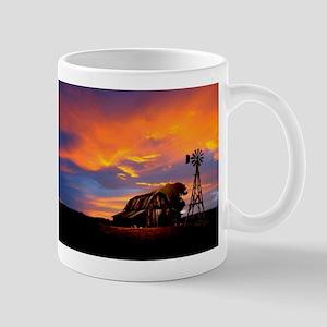 God is Watching Sunset Mug