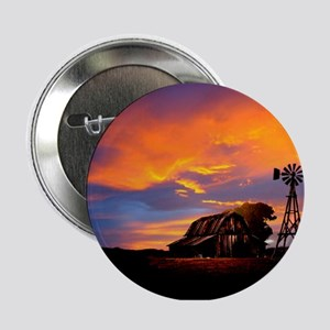 """God is Watching Sunset 2.25"""" Button"""