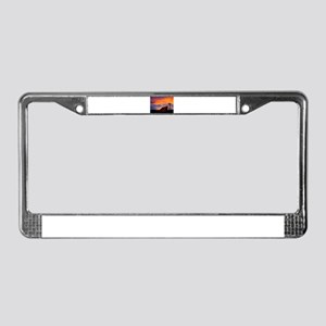 God is Watching Sunset License Plate Frame