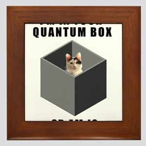 Schrodinger's Quantum Cat Framed Tile