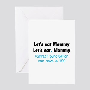 Let's eat Mommy Greeting Card