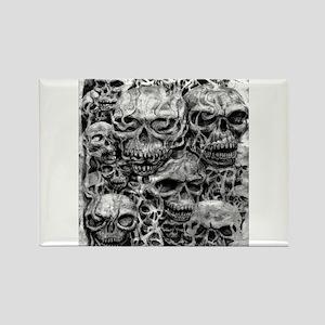 skulls dark ink Rectangle Magnet