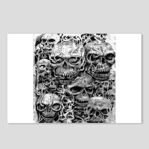 skulls dark ink Postcards (Package of 8)