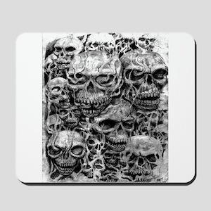 skulls dark ink Mousepad