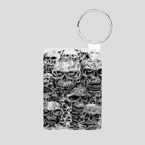 skulls dark ink Aluminum Photo Keychain