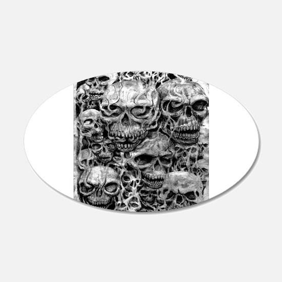 skulls dark ink Wall Decal