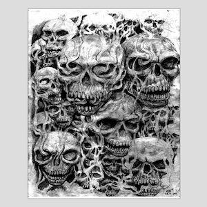 skulls dark ink Small Poster
