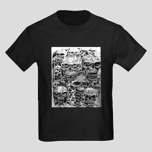 skulls dark ink Kids Dark T-Shirt