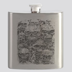 skulls dark ink Flask