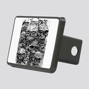 skulls dark ink Rectangular Hitch Cover