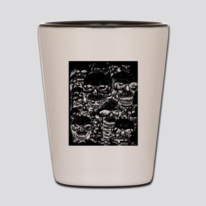 skulls darker ink inverted Shot Glass