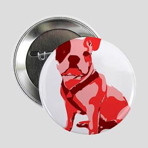 """Bulldog Retro Dog 2.25"""" Button"""