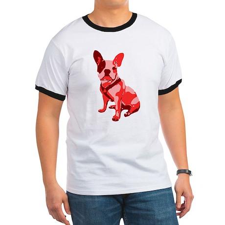 Bulldog Retro Dog Ringer T