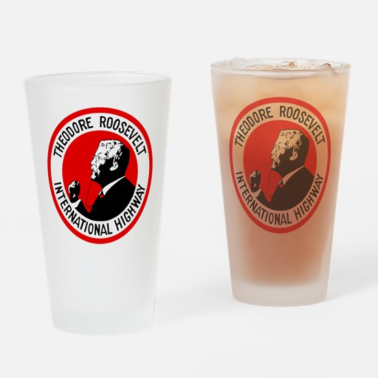Theodore Roosevelt Highway Drinking Glass