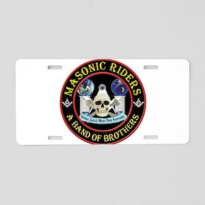 Masonic Biker Brothers Aluminum License Plate